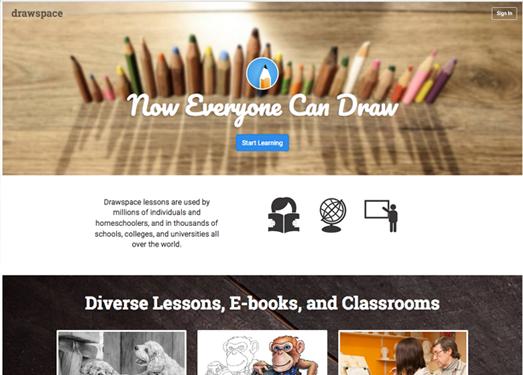 DrawSpace:免费绘画教学平台