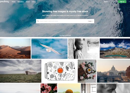 PixaBay:免費高質量圖片素材分享網