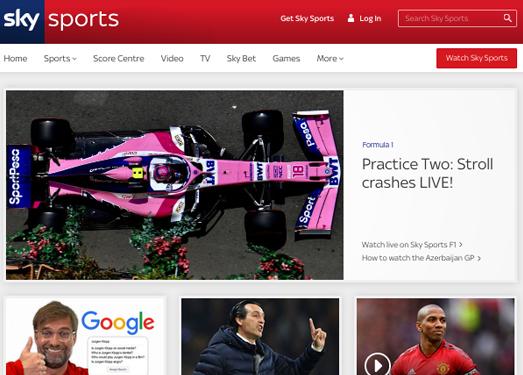SkySports:英国天空体育直播电视台官网