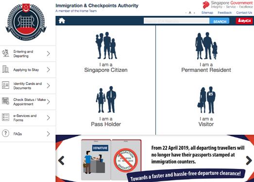 ICA.GOV.SG:新加坡移民局官網