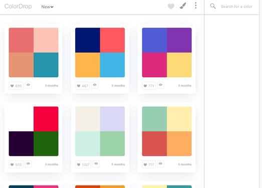 ColorDrop:在线颜色组合调试工具