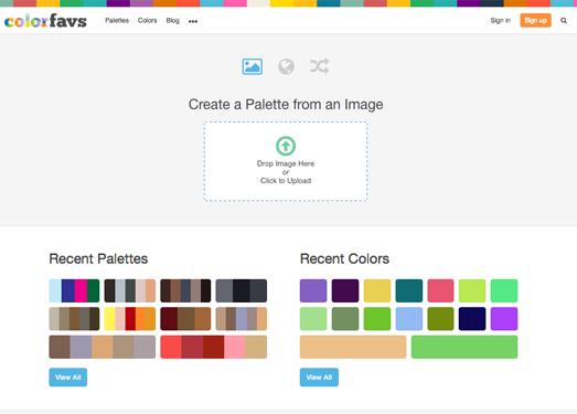 ColorFavs|发现美丽的调色板和颜色